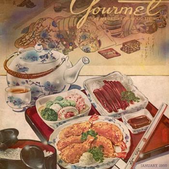 1955 - Gourmet Magazine Cover - Paper