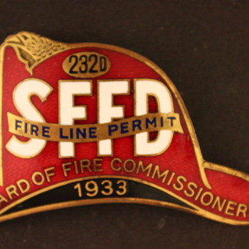 SFFD Fire Lines badge - Firefighting