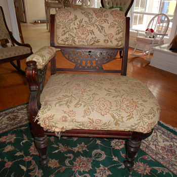 old chair - please help with info - thanks --pete - Furniture