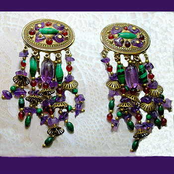 A Special Pair of Michal Golan Earrings  - Costume Jewelry