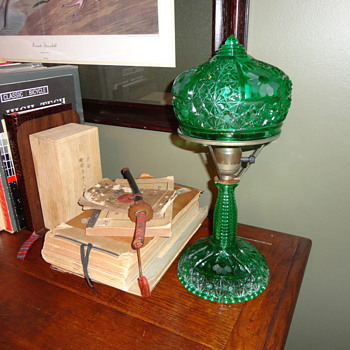 My favorite Green Glass, Dasiy & Button lamps - Lamps