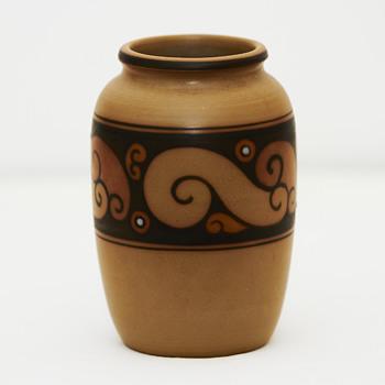 Unglazed L. Hjorth vase, ca. 1920 - Pottery