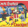 British Paper crate labels for Batgers Crackers Santa Claus vintage Christmas Train