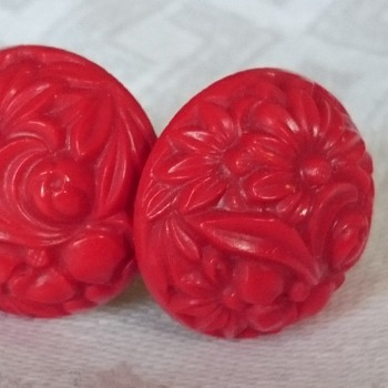 Vintage screwback celluloid earrings  - Costume Jewelry