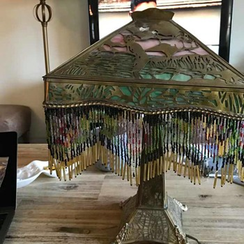 Stain Glass Lamp with Rose Fringe....any ideas?! - Lamps