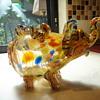 Unusual Murano Confetti Elephant Vase