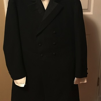 Edwardian Bespoke Frock Coat and Brocade Waistcoat - Mens Clothing