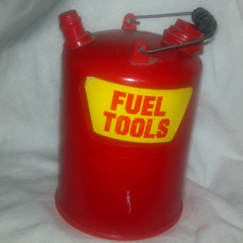 Plastic fuel can with mini screwdriver set inside - Tools and Hardware