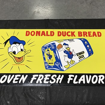 Donald Duck bread sign  - Advertising