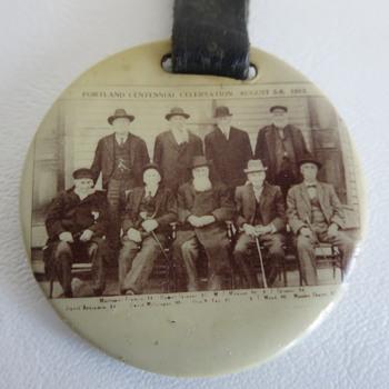 1913 Tin Photo Watch Fob