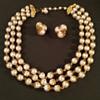 Vintage Faux Pearl Necklace & Earring Set