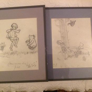 E.H. Shepard Winnie the Pooh Original Drawings