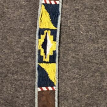 Weaving & dead bead belt - Native American