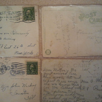 Lot 5- Early 20th century post stamps & Post cards
