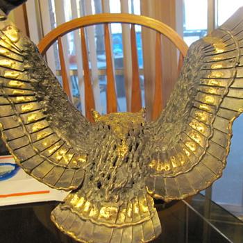 """bronze sculpture from James H. Scorse  """"Screech Owl"""""""
