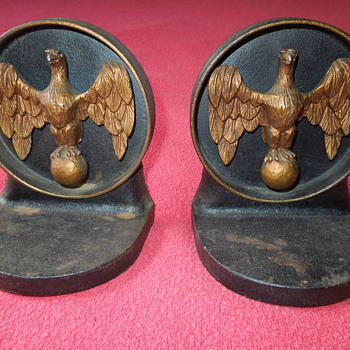 Vintage Iron Eagle Bookends - Books