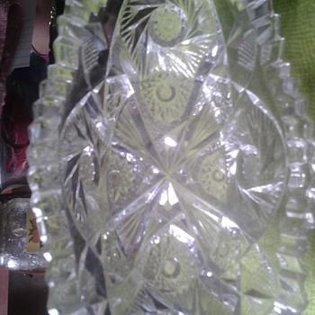 whirling pinwheel? eapg dish - Glassware