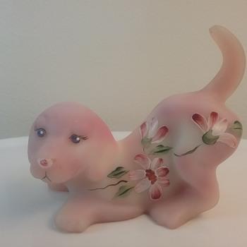 Fenton Glass puppy  - Animals
