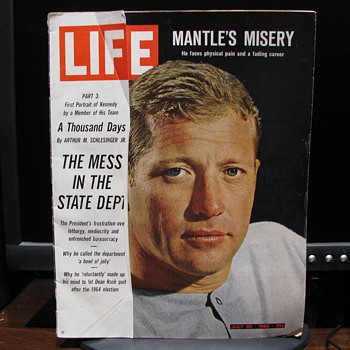 Life  July 30, 1965   Micky Mantle - Baseball