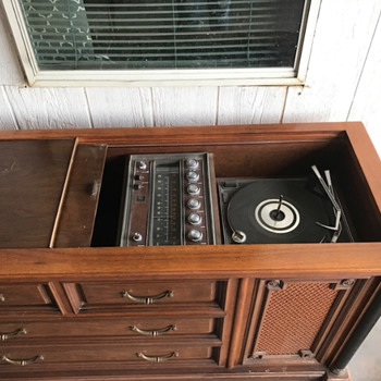 Can anyone help me identify this Record Player Console? - Radios