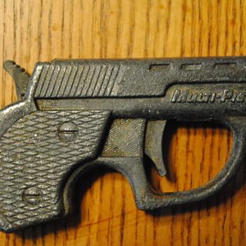 1965 Multi Pistol 09 Cap Gun by Topper Toys - Toys