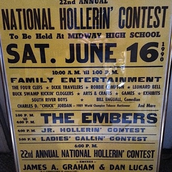 Annual Hollerin' Contest