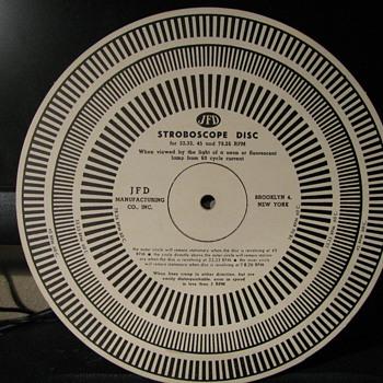 J.F.D. Strobascope Disc - Records
