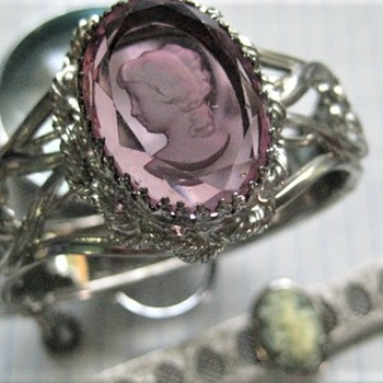 Intaglio Clamper type Bracelet  - Costume Jewelry