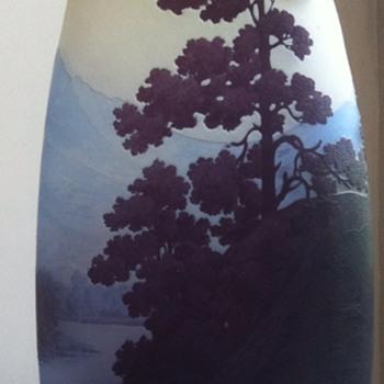 """Gallé vase, """"paysage des Vosges"""". - Art Glass"""