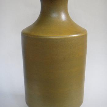 Large Chinese Vase, Satin Glaze, Gloss interior~Hand Signed~~~Age? - Asian