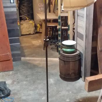 cast iron bridge arm floor lamp - Lamps