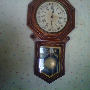 new haven clock company eclipse regulator in moms kitchen since 1950's