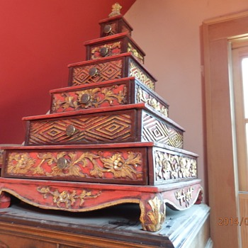 Asian pyramid chest of 6 drawers - Asian