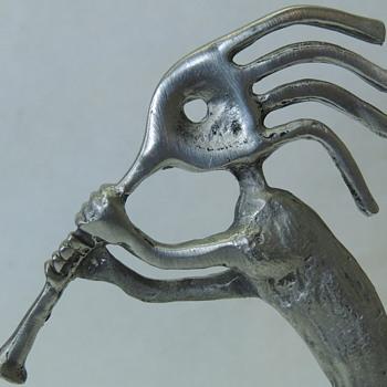 Dancing Kokopelli Statue - Native American