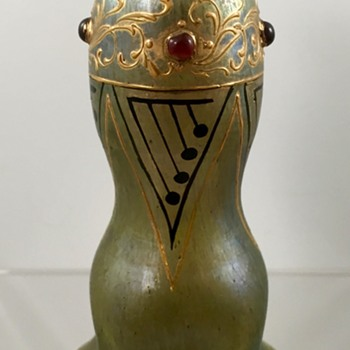 Loetz Jeweled Cabinet Vase, DEK 367, PN Unknown, ca. 1902-1903 - Art Glass