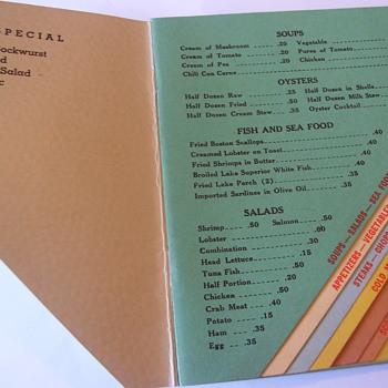 PROHIBITION STYLE MENU 1920s - Paper