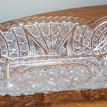 Glass Relish Dish - Glassware