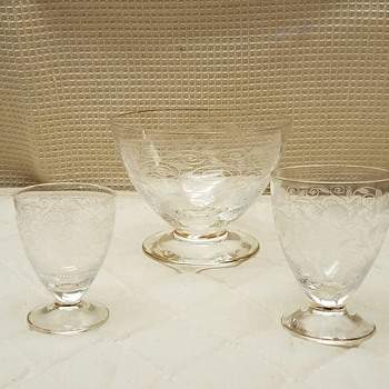 Etched Antique Glassware