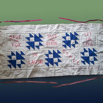 Colorado Vintage Anti Vietnam War Handmade Banner - ....Let Us Live in Lasting Peace - Folk Art