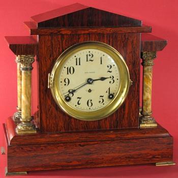 Seth Thomas Admanantine mantel clock, mahogany color