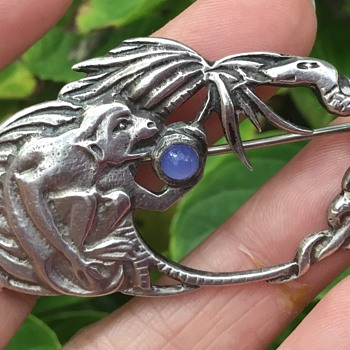 Bernard Instone Silver Brooch - Arts and Crafts