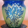 Loetz PN III-1821 cameo & cut glass vase ca. 1923