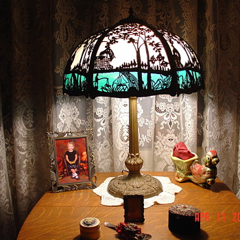 Miller Lamp Company...Slag Glass...Signed And Number 234...Early 1900's
