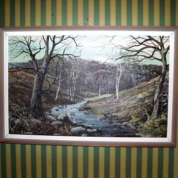 painting by k. lund-shipley glen-yorkshire.