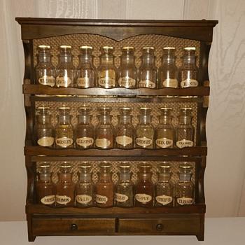 Vintage wooden spice rack - Kitchen