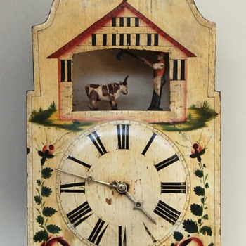 A Black Forest Butcher Automaton Clock  - Clocks