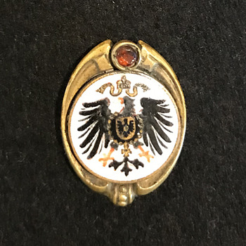 German Imperial Crest Pin - Military and Wartime