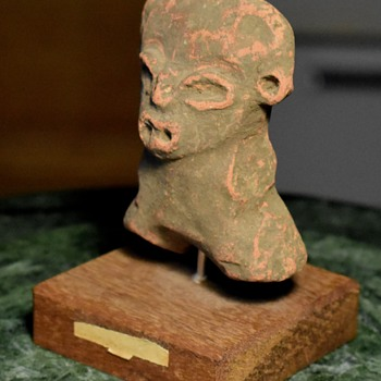 Terracotta Aztec / Mayan Figure from ebay - Fine Art