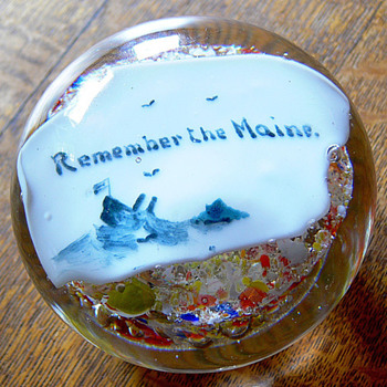 Remember the Maine paperweight