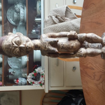?????? antique African carved wooden statue????